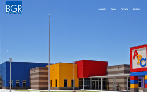 BRG Architects Lubbock, Texas - website build Warehouse75