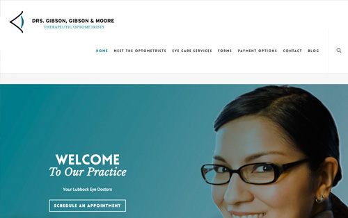 Eyes of Lubbock website build Warehouse75 Lubbock, Texas- Digital Marketing Agency