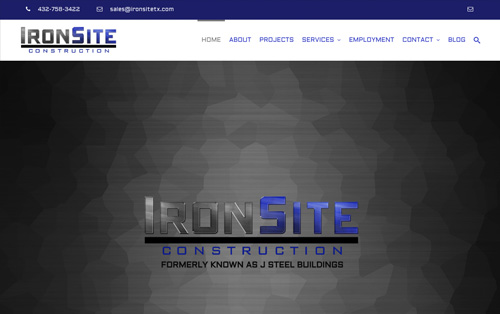 Ironsite Construction website build - Seminole, Texas - Warehouse75