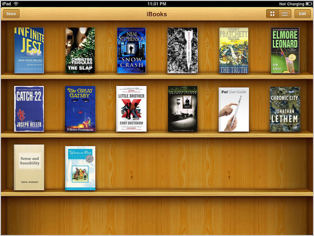 Another skeuomorphic example from the old Apple iBooks app.